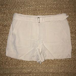 WHBM Tan Linen Shorts